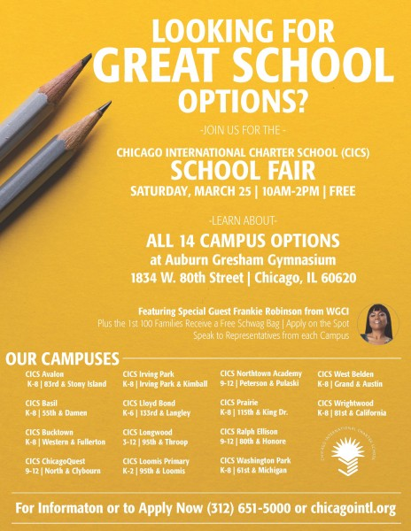 CICS to Host Free School Fair