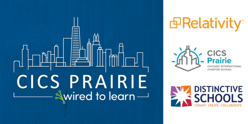 CICS Prairie Awarded Relativity's Wired to Learn Grant to Expand Technology Access and Education